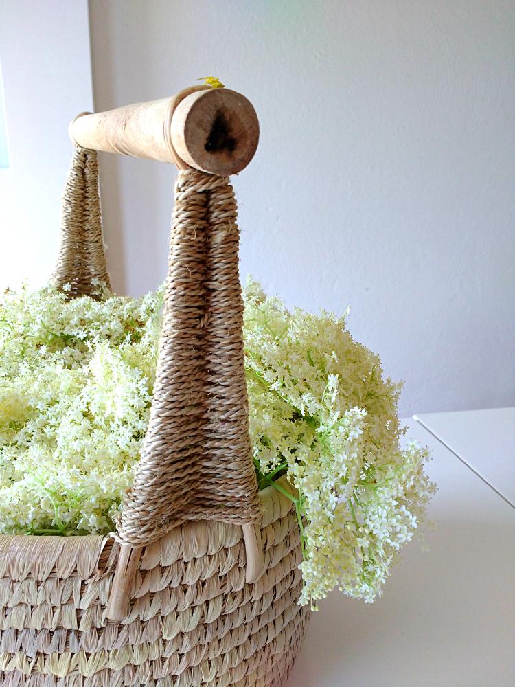Elderflower foraging walk crop basket