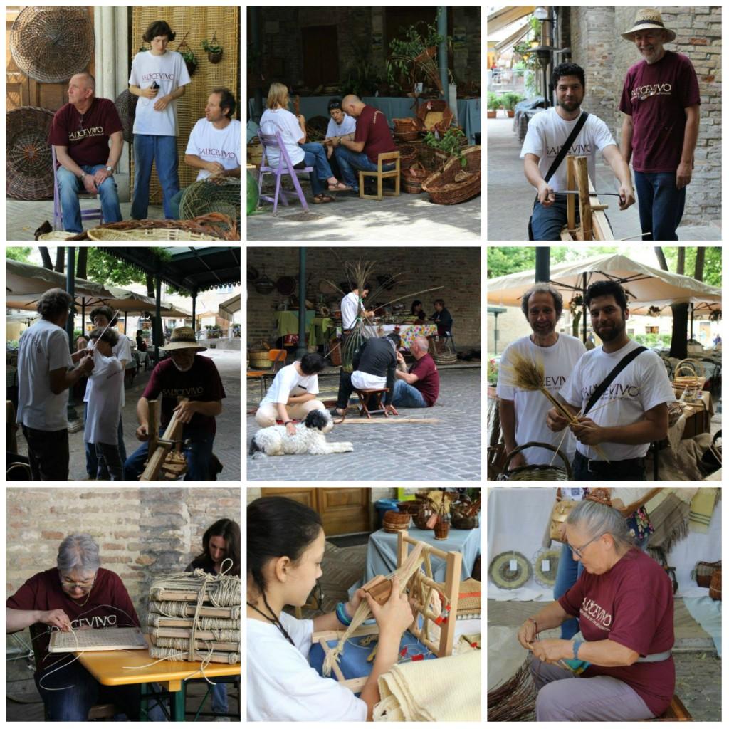 Mani che intrecciano Weaving Urbino June 2016