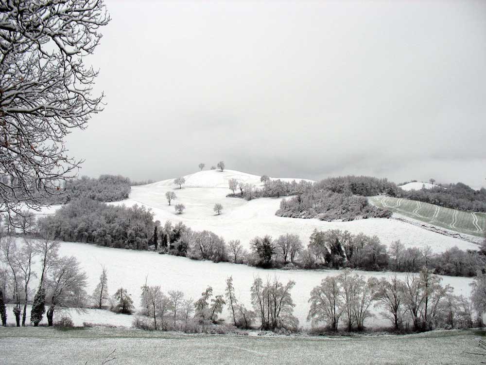 snow in le marche