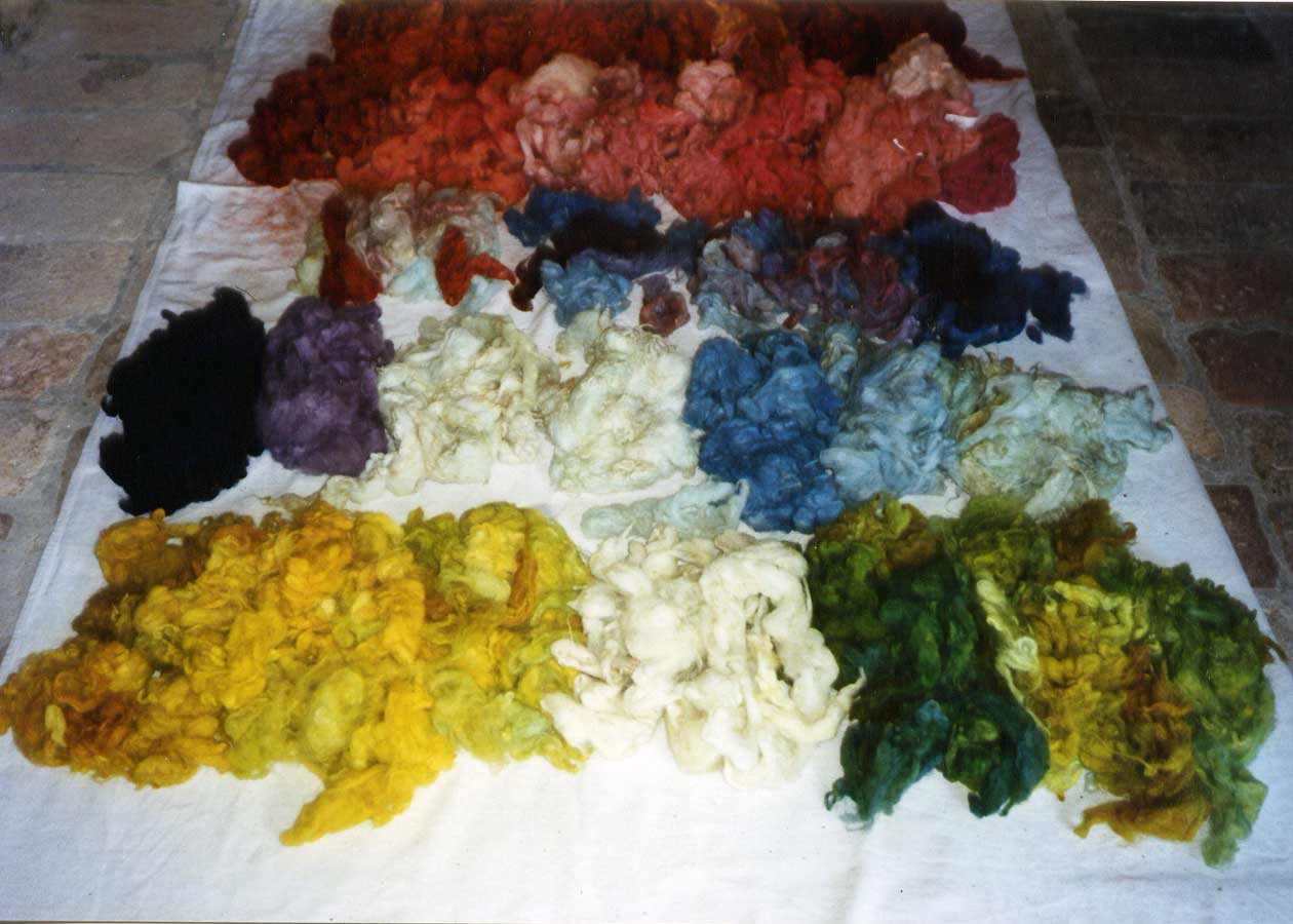 wool dyeing in Le Marche
