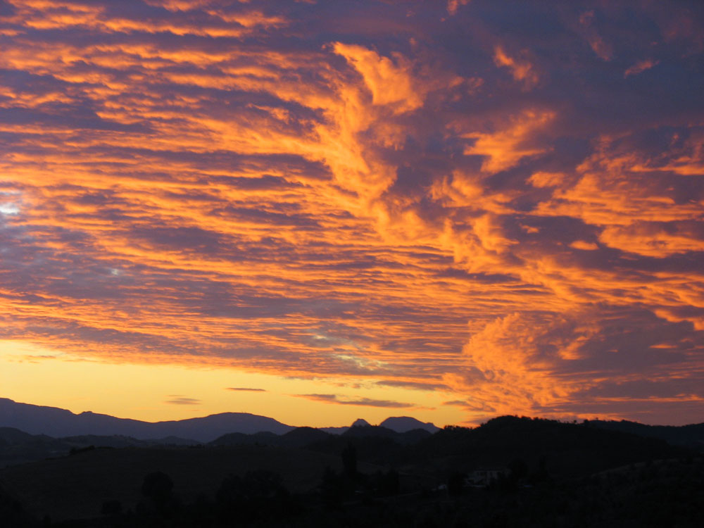 Marche-sunset