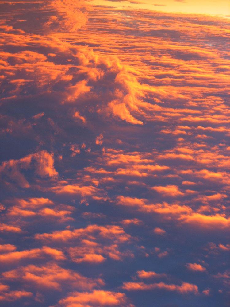 clouds sea Le Marche sunset