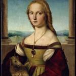 Raffaello Ritratto di dama con liocorno in Urbino