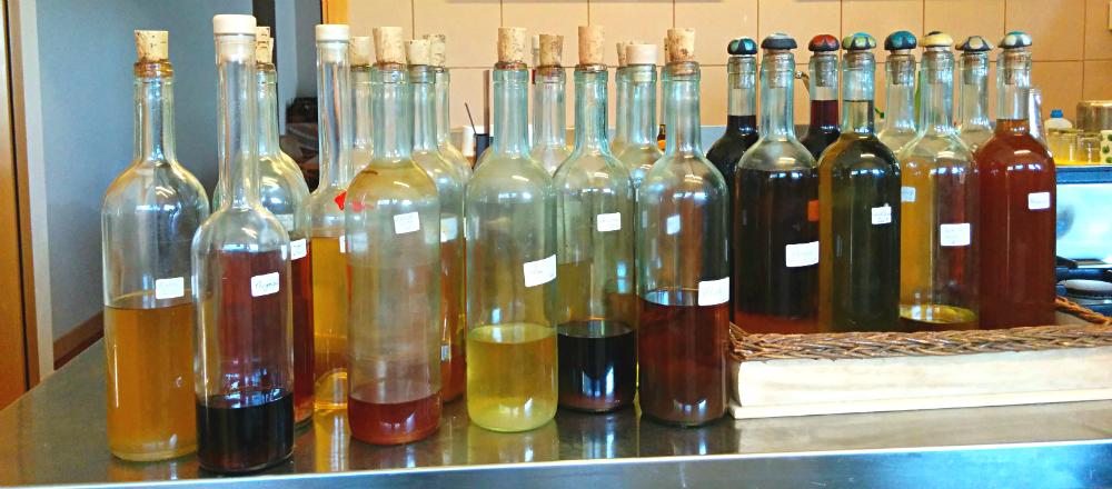 home made liqueurs Valle Nuova Urbino Italy