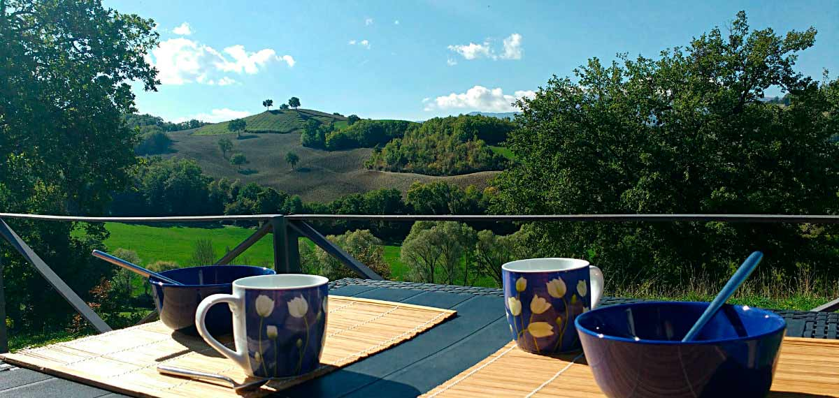 Self catering apartment Agriturismo view Urbino Marche
