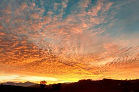 Clouds September Sunset Le Marche Hills Italy Romantic Nature