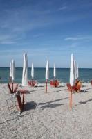 Fano beach Marche Italy Parasols