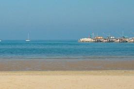 Fano beach pier Adriatic sea Marche