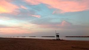 Pesaro beach Adriatic sea Le Marche Italy