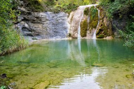 River waterfall Marche Italy Trekking Nature Unspoilt