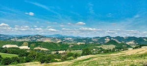 Summer landscape Panorama holidays Marche Italy