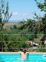 swimming pool relax view Marche hills landscape relaxing holidays