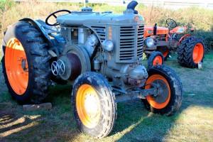 Farming fair old tractor
