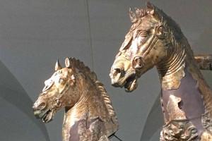 Glided Bronzes Pergola Horses Le Marche tourism Italy