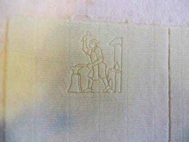 Original fabriano watermark Papermaking Marche Italy