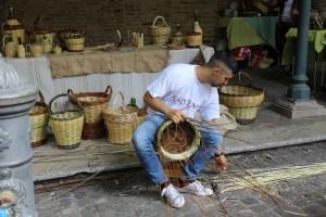 Marche shopping markets bastket weaving