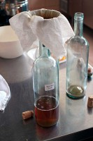 Farm to table filtering home made liqueurs Urbino Marche Italy