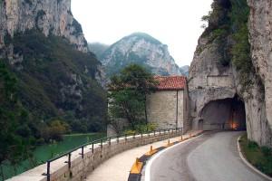 Via Flaminia Furlo tunnel furlo gorge Marche Italy