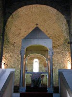 San Leo altar Pieve Emilia Romagna Marche border Italy