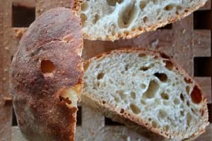 homemade bread farm to table homegrown flour organic Marche