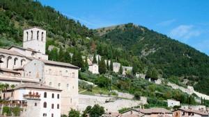 Gubbio Umbria hilltop towns tourism holidays Italy