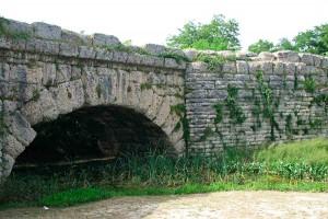 via flaminia Roman Bridge Cagli Le Marche Italy
