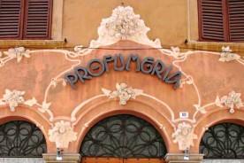 Cagli liberty modernist profumeria Marche Italy