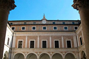 Courtyard Palazzo Ducale Urbino ducal palace Marche Italy