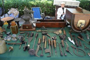 Old tools Fano flea market Marche shopping