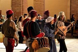 Early music group reenactment Festa del Duca Urbino Marche