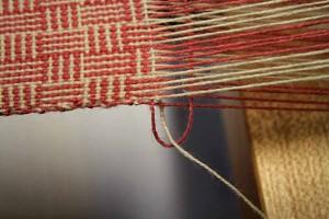 Loom weaving Marche Italy