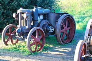 Old Landini tractor farming fair