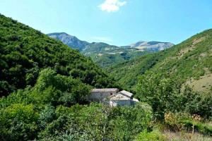 Sitria abbey Umbria Marche Italy Monte Cucco