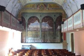 Sassocorvaro theatre Marche Italy tiny theatre culture music