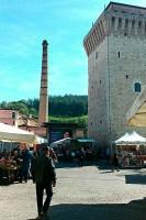 Market day Fermignano Tower Marche Holidays shopping