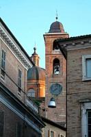 Urbino streets Duomo Le Marche Italy Tourism