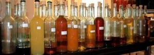 Homemade liqueurs agriturismo Marche Urbino zero miles