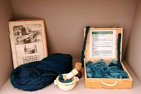 Woad dyeing courses Le Marche Italy Active holidays