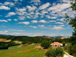 Green hills photovoltaic Sustainable energy Le Marche Italy
