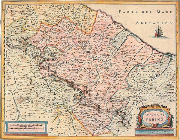 Ducato di Urbino map Marche Italy