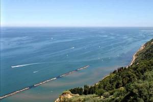Mt San Bartolo Clffs Adriatic coast Marche Italy