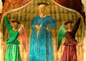 Piero della Francesca Monterchi Madonna del parto visit Tuscany Marche