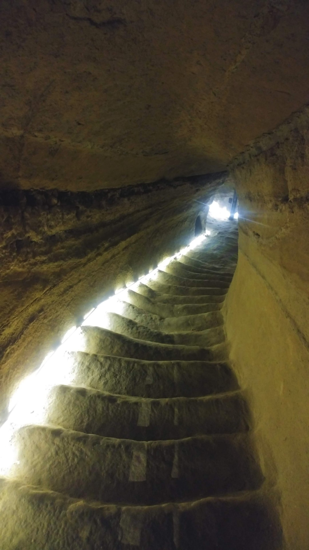 The stairs to the hypogeum Marche hidden gems